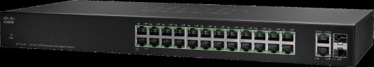Коммутатор Cisco SG110-24HP-EU неуправляемый 24 порта 10/100/1000Mbps коммутатор cisco slm2008t eu slm2008teu