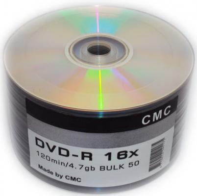 Диски DVD-R CMC 16x 4.7Gb Bulk 50шт