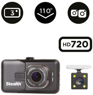 Видеорегистратор Stealth DVR ST 130 1280x720 110° G-сенсор microSD microSDHC от 123.ru