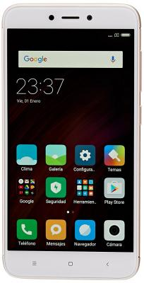 Смартфон Xiaomi Redmi 4X золотистый 5 16 Гб LTE Wi-Fi GPS 3G смартфон zte blade v8 золотистый 5 2 32 гб lte wi fi gps 3g bladev8gold