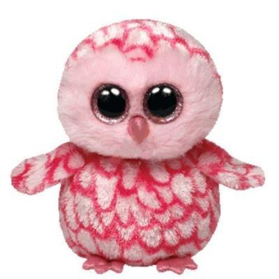 Мягкая игрушка сова TY Совенок 15 см розовый текстиль плюш  36094
