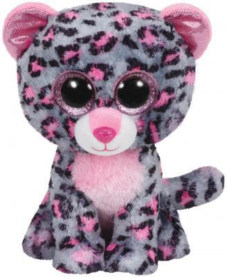 Мягкая игрушка леопард TY Леопард Tasha искусственный мех текстиль серый розовый 23 см