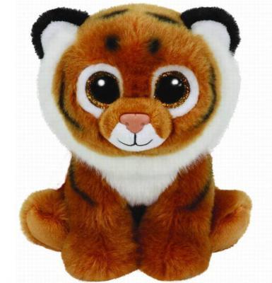 Мягкая игрушка тигр TY Тигренок Tiggs 25 см рыжий белый плюш  90218