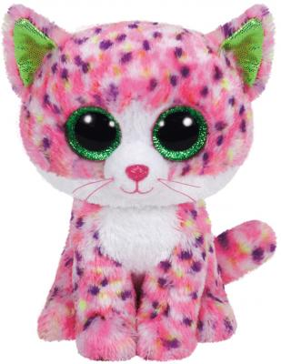 Мягкая игрушка кот TY Котенок Sophie 15 см розовый искусственный мех синтепон  36189
