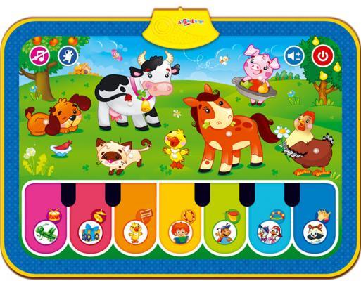 Развивающий музыкальный коврик Азбукварик Веселая ферма 028-8 игрушка обучающая музыкальная азбукварик ферма музыкальный домик