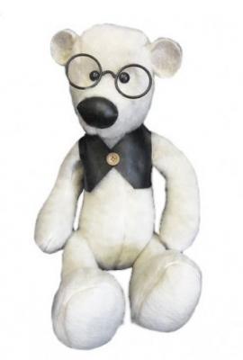 Мягкая игрушка медведь Волшебный мир Мишка шарнированный Джонни текстиль белый 50 см