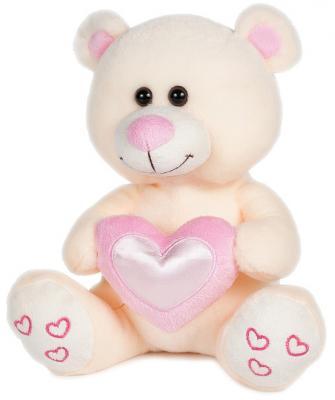 Мягкая игрушка MAXITOYS Влюбленный мишка 22 см бежевый искусственный мех  MT-HH-B28876EC
