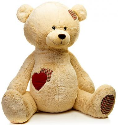 Мягкая игрушка MAXITOYS Мишка Рони искусственный мех бежевый 50 см мягкая игрушка кукла малыш медвежонок maxitoys
