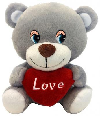 """Мягкая игрушка MAXITOYS """"Мишутка с сердцем"""" 20 см текстиль озвученный MP-HH-R9035E"""