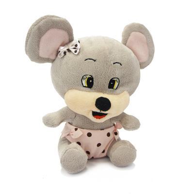 Мягкая игрушка мышь MAXITOYS Мышонок Чиппи 16 см серый искусственный мех пластик  MT-TS041031-16