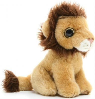 Мягкая игрушка лев MAXITOYS Львенок 18 см бежевый коричневый искусственный мех текстиль  MT-TSC091406-18