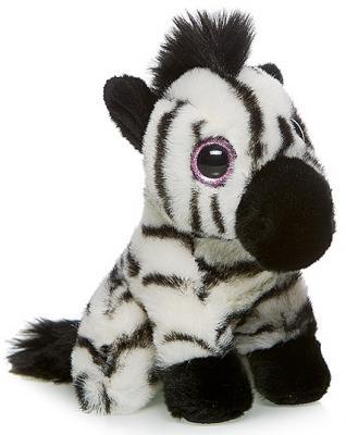 """Мягкая игрушка MAXITOYS """"Зебра"""" 18 см разноцветный искусственный мех  MT-TSC091407-18"""