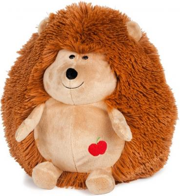 Мягкая игрушка ежик MAXITOYS Ежик упитанный малый, озвученный 18 см коричневый искусственный мех текстиль  MP-HH-B28099E-18