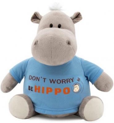 """Мягкая игрушка бегемотик ORANGE """"Be Hippo"""" 20 см серый текстиль искусственный мех  MS6207/20"""