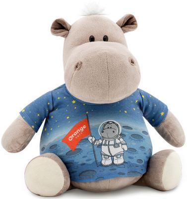 Мягкая игрушка ORANGE Бегемот в майке - Космос 30 см серый плюш MS6206/30 игрушка orange toys бегемот полицейский 30cm ma2640 30j