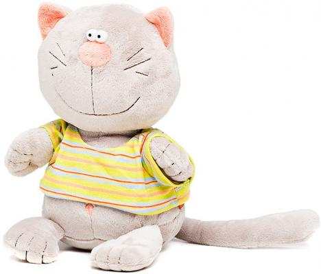 Мягкая игрушка кот ORANGE Батон искусственный мех синтепон серый 20 см MC2370/20B