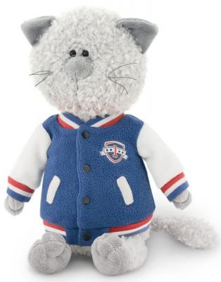 Мягкая игрушка ORANGE Кот Обормот в клубной куртке 30 см серый искусственный мех OS623/30 мягкая игрушка кот orange кот обормот рыбак 20 см искусственный мех текстиль