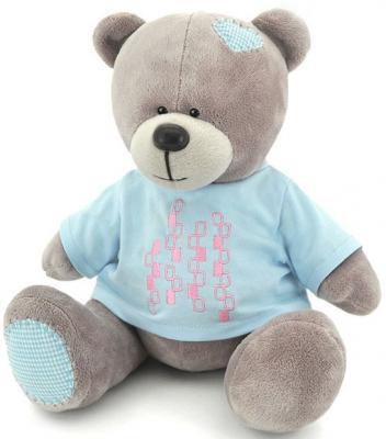 """Мягкая игрушка медведь ORANGE """"Топтыжкин"""" 20 см серый плюш текстиль  МА1982/20"""
