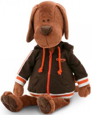 Мягкая игрушка пёс ORANGE Барбоська в толстовке искусственный мех текстиль коричневый 30 см мягкая игрушка собака orange чихуа kiki малиновый блеск текстиль искусственный мех розовый коричневый 25 см ld010