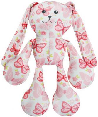Антистрессовая игрушка заяц Оранжевый кот Заяц Фредди полиэстер полистирол розовый 50 см 989840