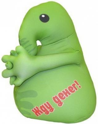 Мягкая игрушка Оранжевый кот Хочун 25 см зеленый текстиль  602265
