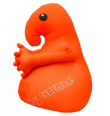 Антистрессовая игрушка Оранжевый кот Хочун 35 см оранжевый текстиль  602173