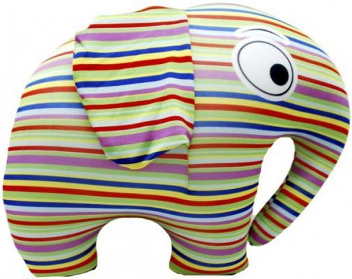 Антистрессовая игрушка слон Оранжевый кот Полосатый слон 32.5 см разноцветный полиэстер полистирол  371794