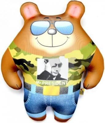 Антистрессовая игрушка медведь СПИ Мишка Крутышка 29 см коричневый полиэстер полистирол в ассортименте 15аси32мив
