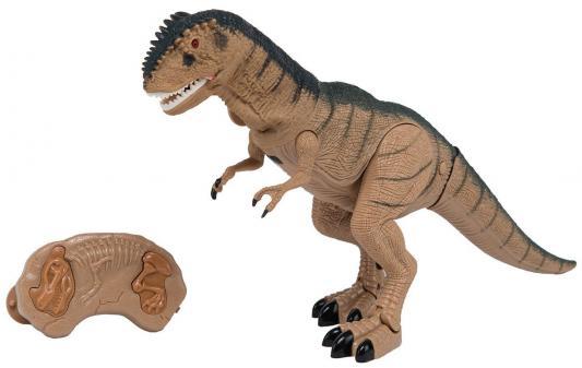 цена на Интерактивная игрушка Shantou Gepai Динозавр от 3 лет коричневый свет, звук, RS6121A