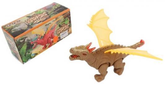 Купить Интерактивная игрушка Shantou Gepai Динозавр от 3 лет коричневый свет, звук, проектор 8772, пластик, унисекс, Интерактивные животные и роботы