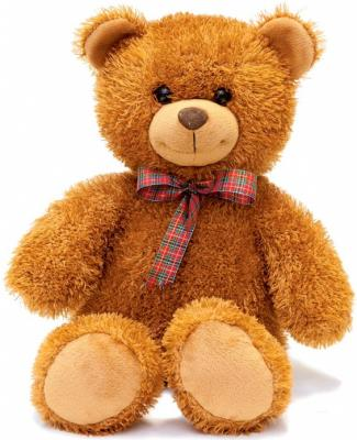 Мягкая игрушка медведь FANCY Мишка Сашка текстиль пластик коричневый 29 см MCA01V