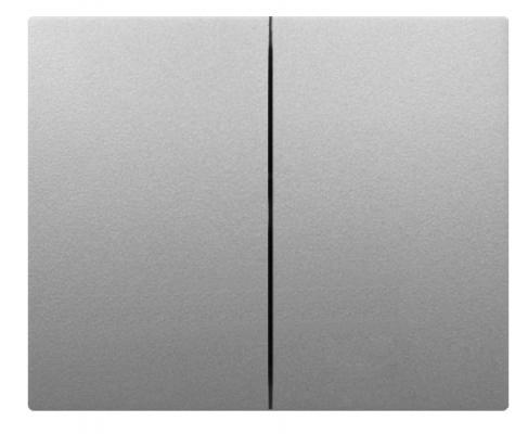 Лицевая панель Legrand G.Life выключателя двухклавишного алюминий 771312