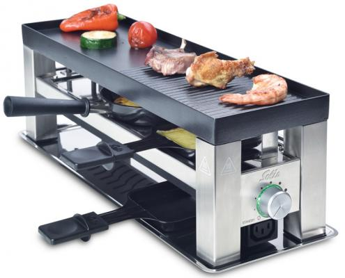 Раклетница Solis Table Grill 4 in 1 чёрный серебристый