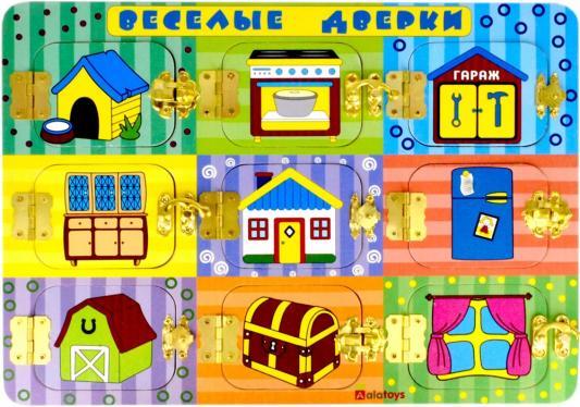 Купить Развивающая доска alatoys Бизиборд Веселые дверки ББ204, Развивающие игрушки из дерева