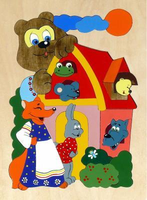 Купить Развивающая игрушка Крона Мозаика-вкладыш дерев. Теремок 143-019, Развивающие игрушки из дерева