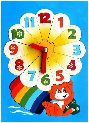 Купить Развивающая игрушка Крона Мозаика-вкладыш дерев. Часики 143-042, Развивающие игрушки из дерева