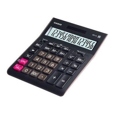 Калькулятор настольный CASIO GR-16-W-EP 16-разрядный черный casio casio gr 7900nv 2
