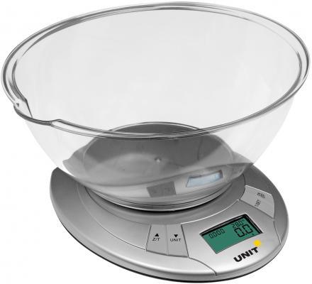 Весы кухонные Unit UBS-2155 серый unit ubs 2153 steel весы кухонные