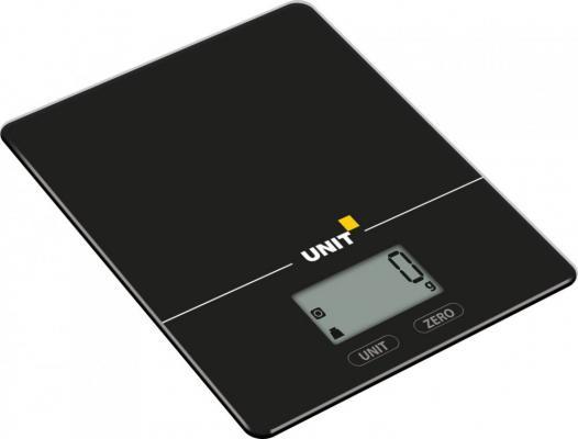 Весы кухонные Unit UBS-2154 чёрный unit ubs 2153 steel весы кухонные