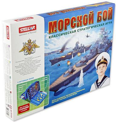 Настольная игра развивающая СТЕЛЛАР Морской бой 1121 настольная игра домино стеллар хорошие знакомые 9