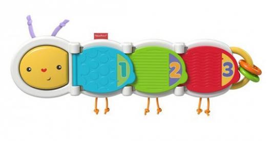 Развивающая игрушка Fisher Price Гусеница с сюрпризом DHW14 развивающая игрушка книжка азбукварик два веселых гуся 64393