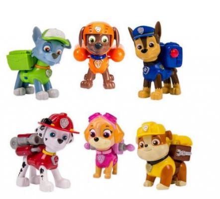 Игровой набор Paw Patrol 6 щенков с рюкзаком-трансформером 6 предметов