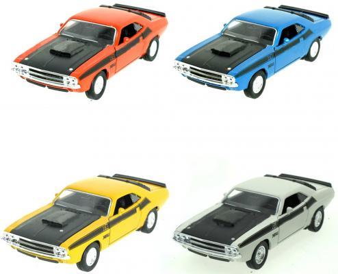 Автомобиль Welly Dodge Challenger 1970 1:34-39 цвет в ассортименте лодка intex challenger k1 68305