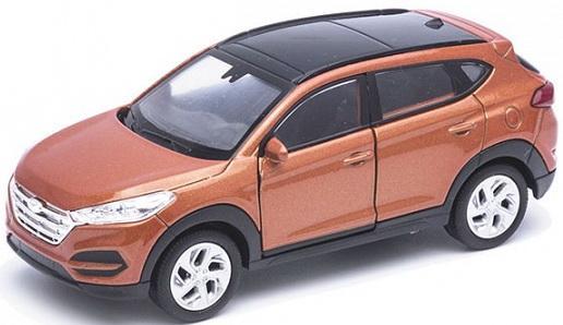 Автомобиль Welly Hundai Tucson. 1:34 коричневый 43718