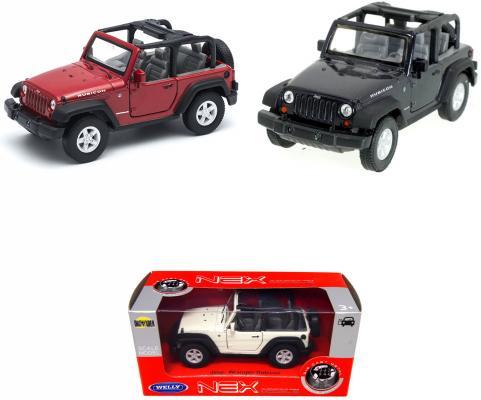 Джип Welly Jeep Wrangler Rubicon 1:34 цвет в ассортименте
