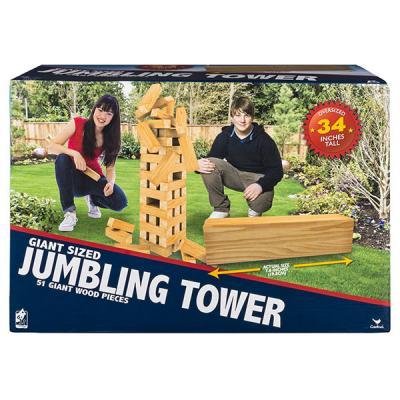 Настольная игра SPIN MASTER спортивная Падающая башня гигант