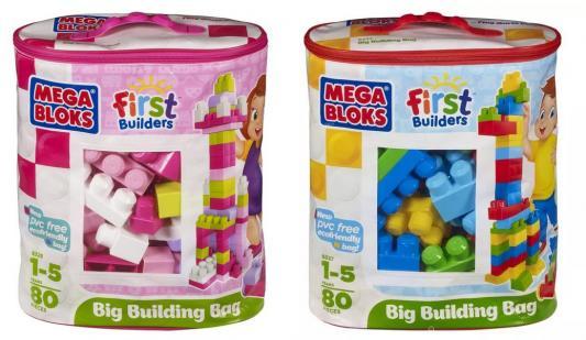 Конструктор MEGA BLOKS First Builders Мешок Мой первый конструктор 80 элементов конструктор mega bloks first builders веселые качели 29 элементов