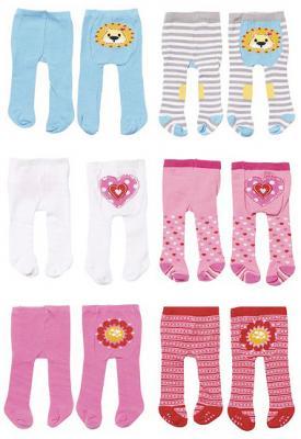 Колготки для кукол Zapf Creation Baby Born Львенок / Сердечко / Цветочек, 2 пары в ассортименте памперсы zapf creation для кукол baby born 5 шт 815 816