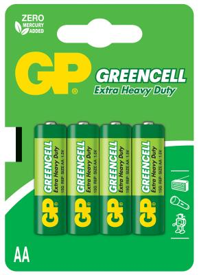 Батарейки GP 15G-CR2 AA 4 шт gp greencell 15g aa