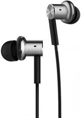 Гарнитура Xiaomi Mi Quantie In-Ear Headphones pro серебристый оригинал xiaomi mi in ear hybrid pro hd наушники с микрофоном шумоподавления mi гарнитура для мобильных телефонов huawei redmi 4